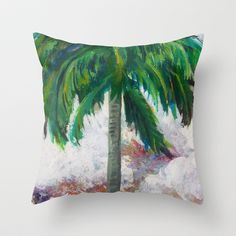 Tropical Palm Throw Pillow by gretzky