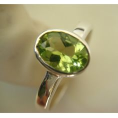 Peridot Ring  Sterling Silver Ring  Wholesale by SilverJoolz, $24.50