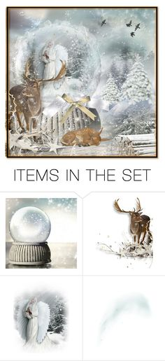 """Set 888: Winter Snow Globes"" by ussms1107 ❤ liked on Polyvore featuring art"