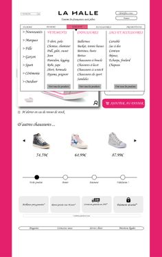 Sophie site V2 menu