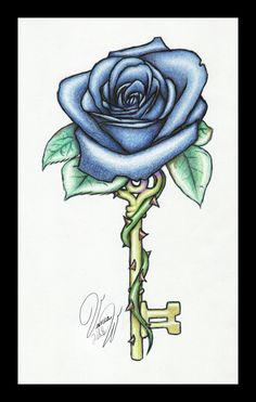 tatoo art rose | Rose Key v2 by =Candrence on deviantART