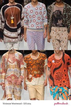 VIVIENNE WESTWOOD Milan Print & Pattern Highlights   Spring/Summer 2014  catwalks