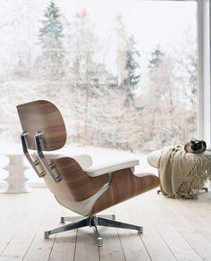 Eames Lounge Chair By Vitra White Version Sofa
