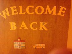 Welcome back to school door bulletin board