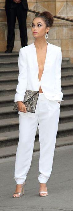 Cara Santana-stunning in all white
