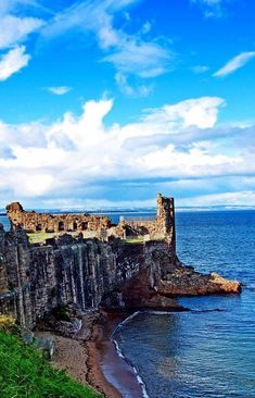 At the ruins of the St Andrews Castle in Scotland.