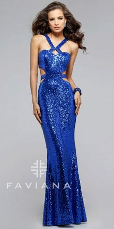 fc52a1078eb Sweetheart Sequin Strap Prom Dress by Faviana  edressme Straps Prom Dresses