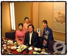 Jimmy doing what he loves best, eating Japanese!