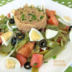 Ensalada fresca de judías verdes < Divina Cocina Cooking Herbs, Cooking Recipes, Healthy Recipes, Healthy Food, Vegan Fitness, Fresh Vegetables, Soul Food, Tapas, Healthy Lifestyle