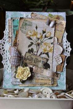 Remnants of Spring Card using Garment District - Marion Smith Designs