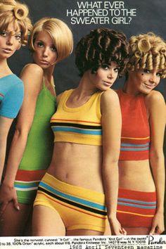 Pandora Swimsuits, Seventeen Magazine 1968 (corbyfans)