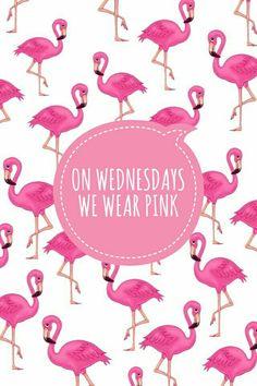Wednesdays - #meansgirls #lockscreen #wallpaper #pink