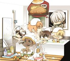 """Subaru need to go to shopping groceries but can't bring everyone to him. Detektif Conan, Conan Comics, Anime Guys, Manga Anime, Manhwa, Anime Suggestions, Kaito Kuroba, Detective Conan Wallpapers, Kaito Kid"