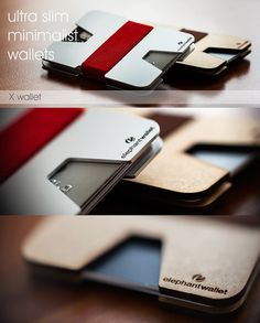 Slim wallet credit card holder men and women by ElephantWallet