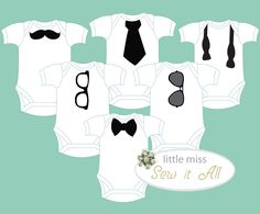 Adorable DIY Onesie Design Templates for BOY (PDF download). via Etsy.