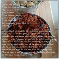 Pulled pork recipe x Pulled Pork Recipes, Ground Black Pepper, Worcestershire Sauce, Balsamic Vinegar, Mustard, Beef, Stuffed Peppers, Food, Essen