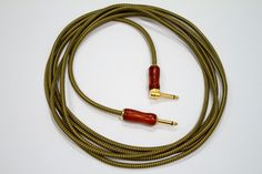 Guitar Gift - Cable Exotic Wood Tweed Guitar Cord - Handmade instrument cable gold nickel guitar cord audiophile high end guitar lead