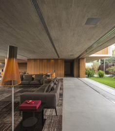 The P House is an outstanding masterpiece of architecture and design that was created thanks to a collaboration between Marcio Kogan of Studio and Residential Architecture, Contemporary Architecture, Interior Architecture, Contemporary Lounge, Futuristic Architecture, Ideas Cabaña, Piscina Rectangular, Home Interior Design, Interior Decorating