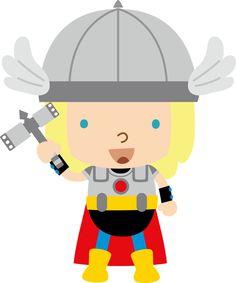 Super Heróis - Minus Thor, Superhero Clipart, Cute Clipart, Kids Party Themes, Superhero Birthday Party, Cartoon Pics, Cute Images, Classroom Decor, Comic Art