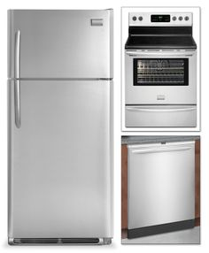 Frigidaire Gallery 3 Pc. Appliance Package - Leon's #LeonsKrisKringle Frigidaire, Appliance Packages, Top Freezer Refrigerator, Kitchen Appliances, Kitchens, Reading, Gallery, Books, House