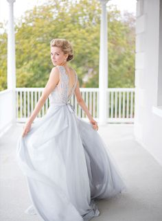 Palest blue wedding gown by Ca'rousel - souther wedding inspiration from Inspired by This