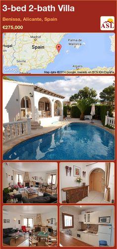 3-bed 2-bath Villa in Benissa, Alicante, Spain ►€275,000 #PropertyForSaleInSpain