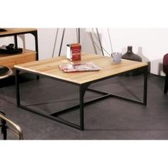 table basse dakkar en teck 124x119 cm h 34 cm tables and. Black Bedroom Furniture Sets. Home Design Ideas