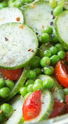 Dill Pea and Cucumber Salad
