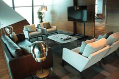 BoConcept Fargo sofa, Murcia marble coffee table, and Monte chairs in Waiting Area for Viseu in Portugal