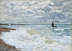 Claude Monet (1840-1926), The Sea at Le Havre, 1868, French. Oil on canvas. 60.01 × 81.60 cm. Courtesy of the Carnegie Museum of Art (http://www.cmoa.org/), Pittsburgh, Pennsylvania; purchase, 53.22.