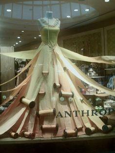 Amazing dress window display at Anthropologie.