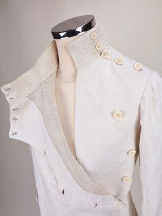 Vtg 1920's Jacket Edwardian Sporting Jacket Vtg French Handmade Fencing Jacket S
