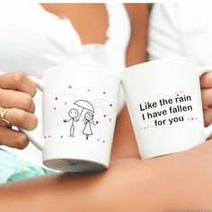 You can't fight the feeling, and you don't want to! Tell your loved one, I have fallen for you, with our sweetly sentimental coffee mug set. This wonderfully romantic gift will give them a warm reminder of your unfaltering devotion. Unqiue gifts for boyfriend and husband. Couples Coffee Mugs, Couple Mugs, Coffee Mug Sets, Mugs Set, Couple Gifts, Couple Pillowcase, Unique Gifts For Him, Fall For You, Gifts For Your Boyfriend