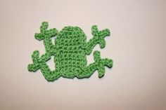 Pattern- Frog Crochet Applique PDF - by CrochetAppliquePatterns on Craftumi