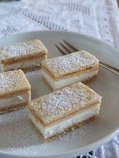 Ízőrző: Citromos szelet (mimóza szelet) Hungarian Desserts, Hungarian Recipes, Sweet Recipes, Cake Recipes, Dessert Recipes, Delicious Desserts, Yummy Food, Sweet And Salty, Homemade Cakes