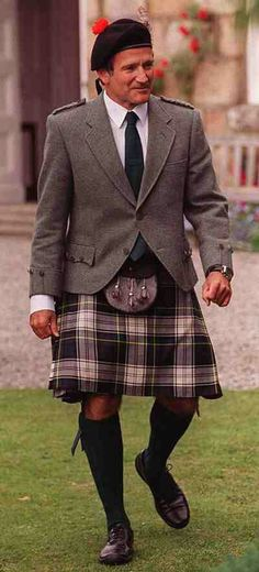 Robin Williams Looking Fantastic in a kilt ... legend ... Scotland