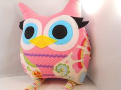 kids & baby Gift idea handmade stuffed toy owl by karensagez, $32.00 Totally adorbs-Great gift for a little gal!