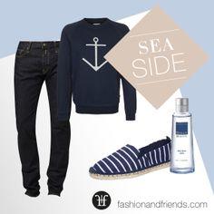 Maritim, Streifen, Jeans