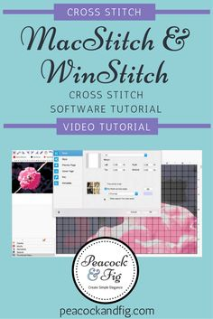 A basic video tutorial introduction to the MacStitch (WinStitch on PCs) cross stitch software. Cross Stitch Pattern Maker, Cross Stitch Patterns, Cross Stitch Software, Chicken Scratch, Crazy Quilting, Crossstitch, Cross Stitching, Fig, Needlepoint