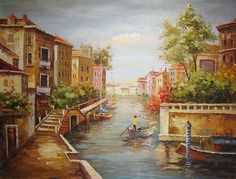 Palatte Knife paintings: Canal View