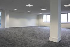The newly refurbished space, complete with #flooring, #painting and #electrical and #lighting installation