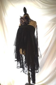 Romantic lace tunic Gypsy black magic Boho by TrueRebelClothing
