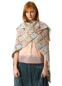 Originally crocheted in Berroco Suede Tri-Color, this granny square shawl pattern could easily be worked in a few solid shades of Berroco Suede. Download the free crochet pattern.