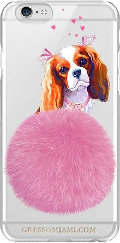 iPhone 7 Snap-On Case FURBABY/ King Charles Spaniel