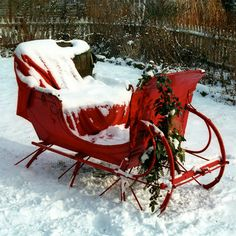 'Vintage Christmas Sleigh' by Andrew Fare on artflakes.com as poster or art print