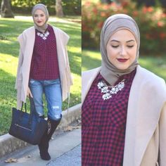 winter hijab coat style, Winter hijab street styles by leena Asaad http://www.justtrendygirls.com/winter-hijab-street-styles-by-leena-asaad/