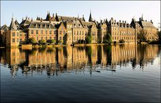 The Hague, this is our lovely governement building Binnenhof. You might just run into one of our ministers...