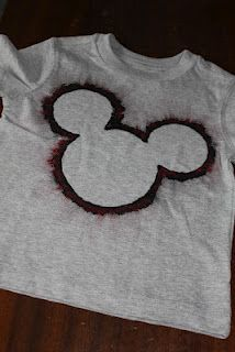 DIY Mickey Mouse Shirts using cupcake liners as template @Andrea N Fred Holder