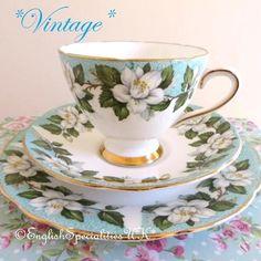 - イギリス雑貨と紅茶とハーブティーのお店 English Specialities *ヴィンテージ* グラッドストーンモントローズ ティーカップ トリオ