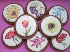 Handpainted Flowers   Cookie Connection